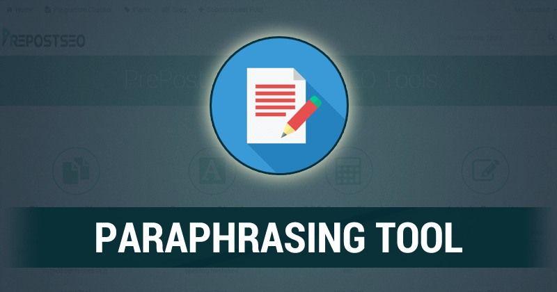 Paraphrasing Tool